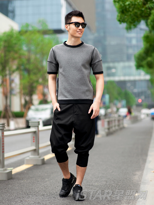 时尚宽松收口休闲裤