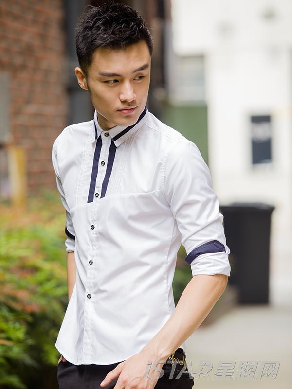 时尚简单个性长袖衬衫