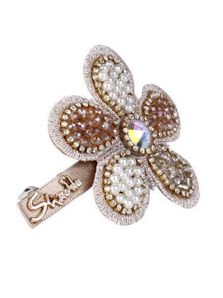 甜美珍珠太阳花朵发夹