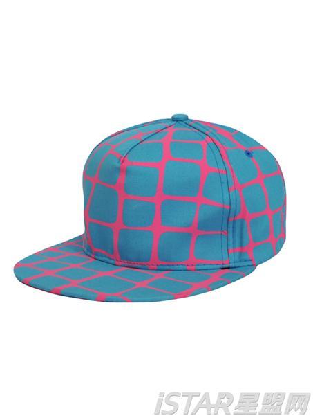 嘻哈格纹帆布帽