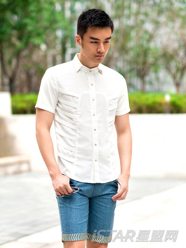 时尚商务休闲短袖衬衫