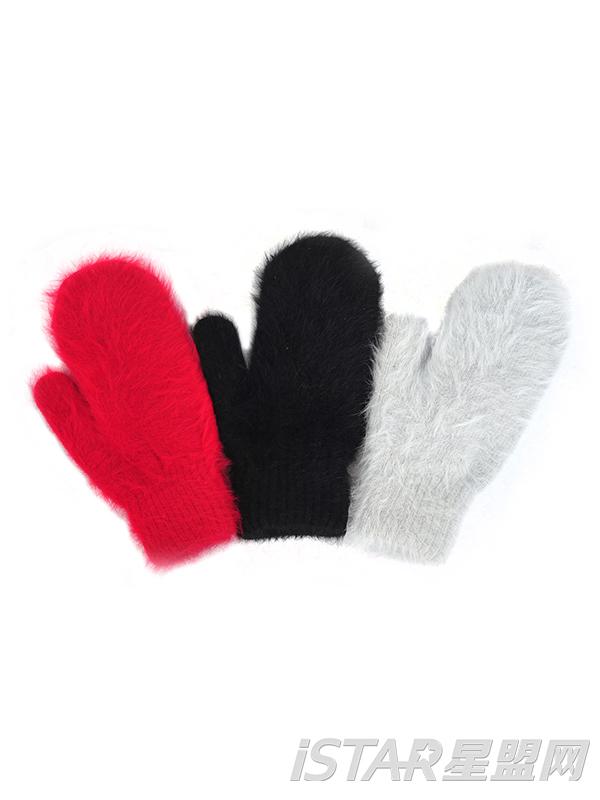 兔毛绒手套