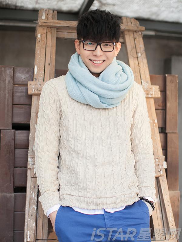 纯色针织围巾