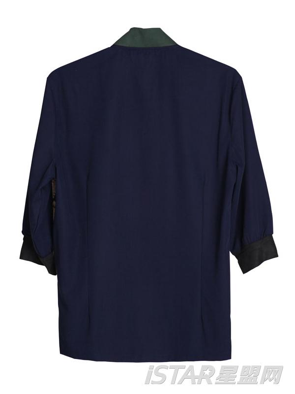 男士复古宫廷印花七分袖衬衫