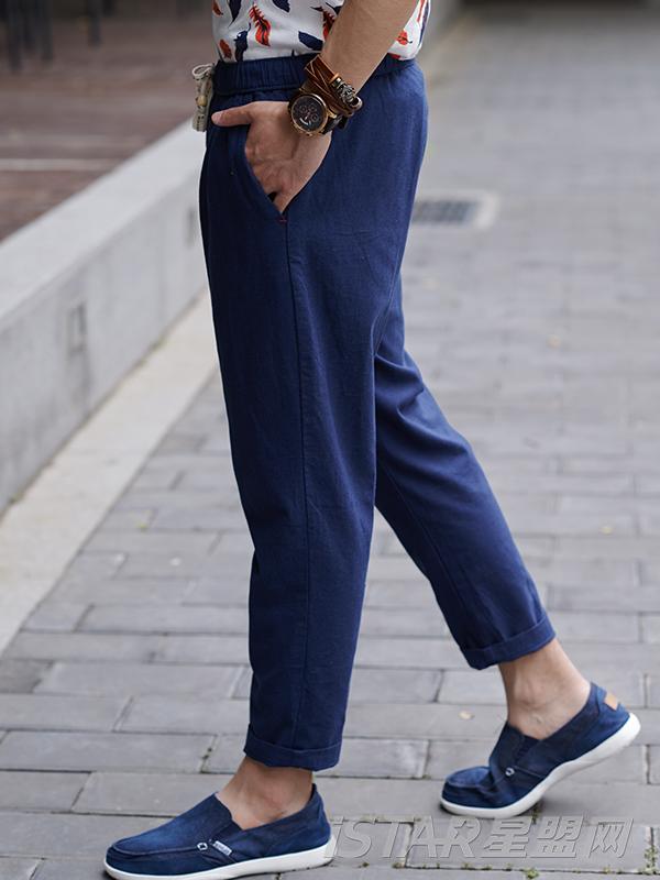 男士休闲小脚西装裤