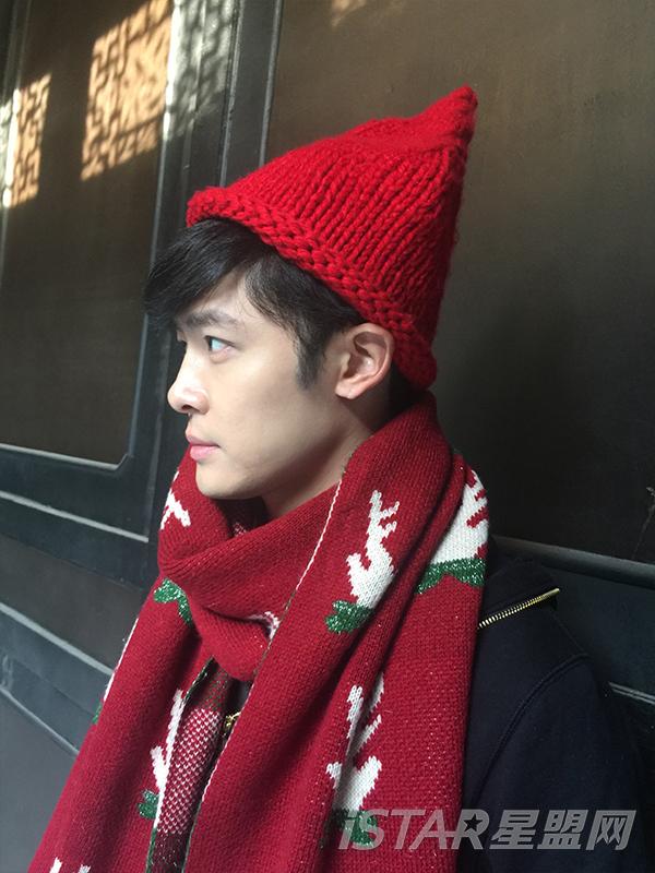 圣诞图案围巾