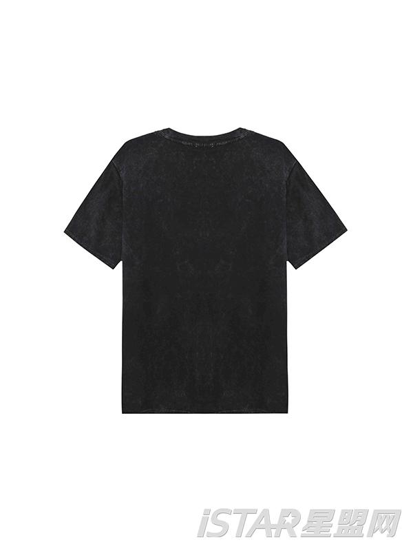 迷彩胸前印花短袖T恤