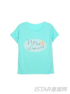 Hello Summer糖果色T恤