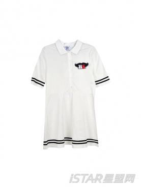 简约黑白条纹连衣裙