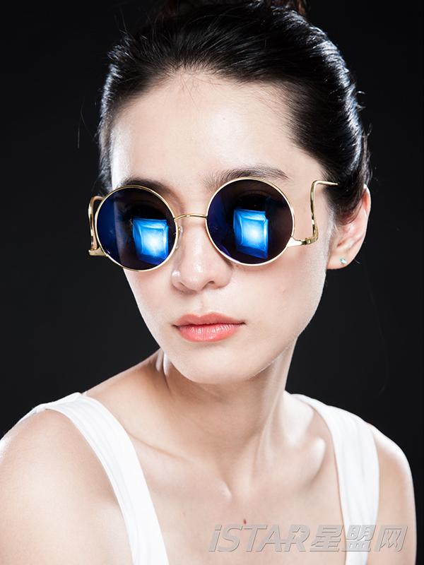 复古弯腿墨镜太阳眼镜