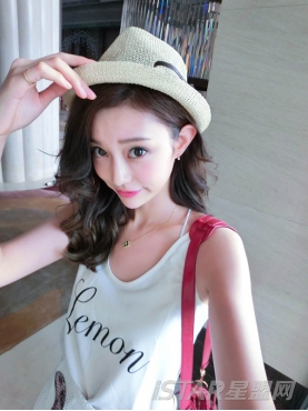 名媛海滩度假风编织草帽