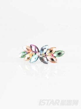 立体切面花朵造型水钻发夹