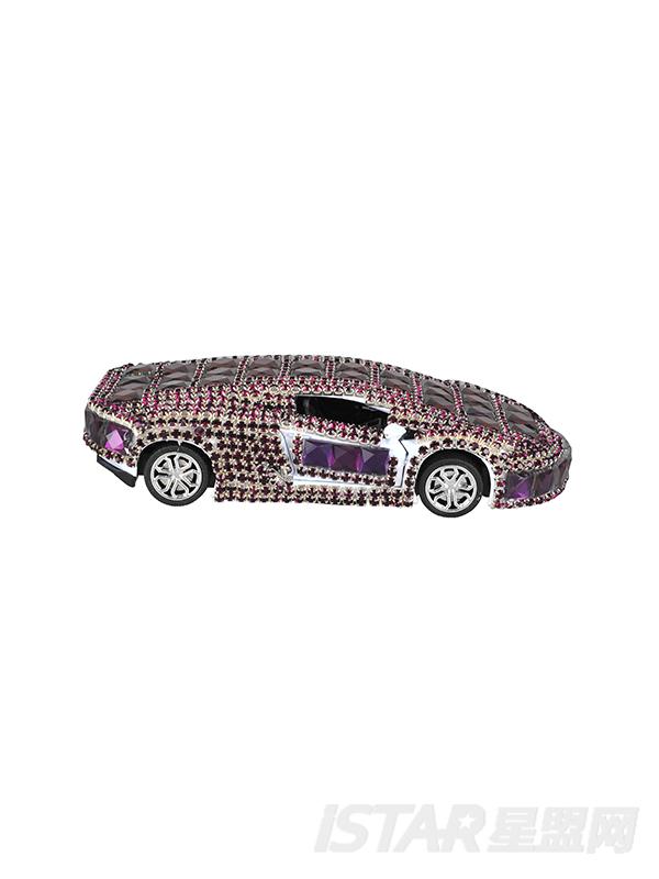 水晶汽车香水座