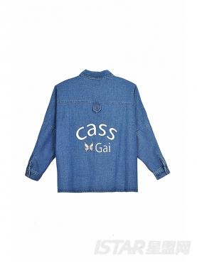 Cass Gai品牌定制宽松牛仔衬衣