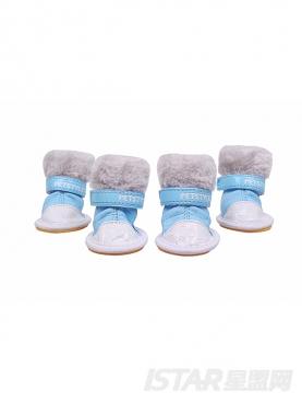 冰激凌蓝宠物雪地鞋