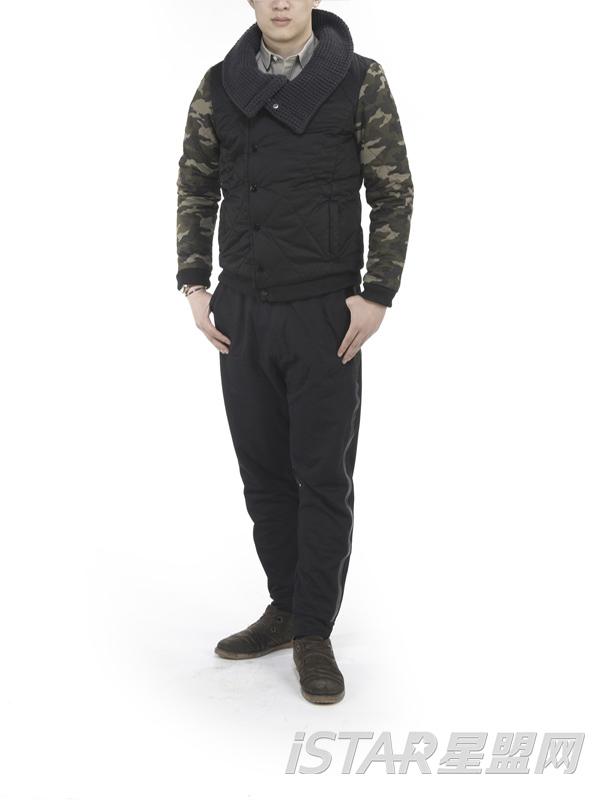 男装修身男棉服外套韩版