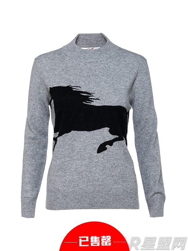 黑马图案设计毛衣