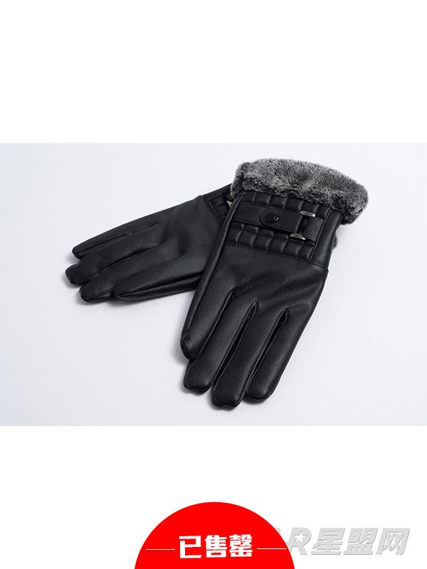 加绒保暖男士商务手套