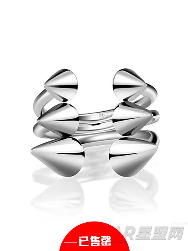 朋克时代三角925银戒指