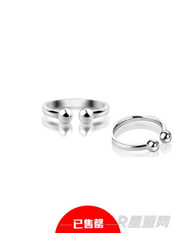 圆点925银戒指