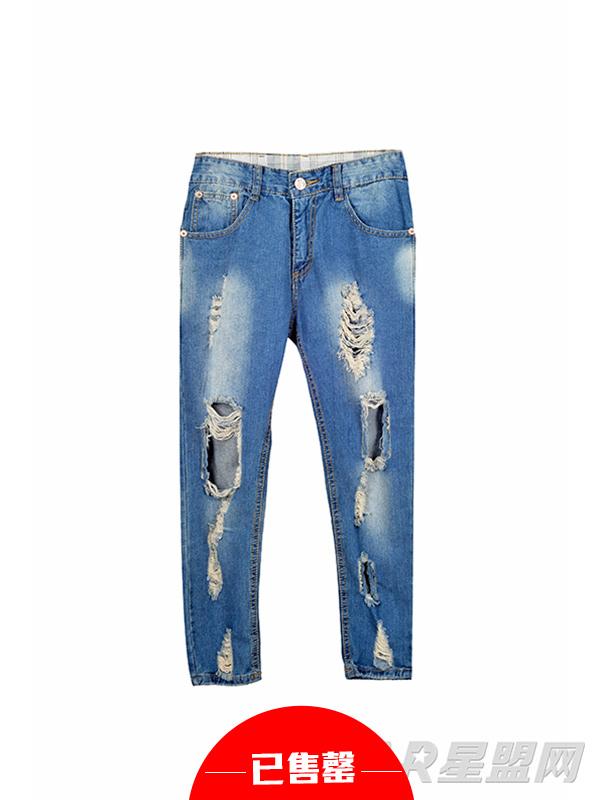 破洞牛仔裤