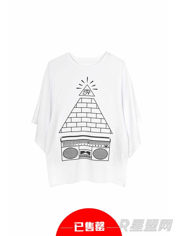 嘻哈印花T恤