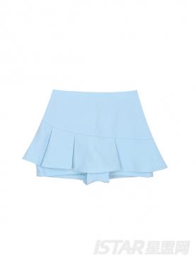 时尚元素天蓝通勤套装裙裤