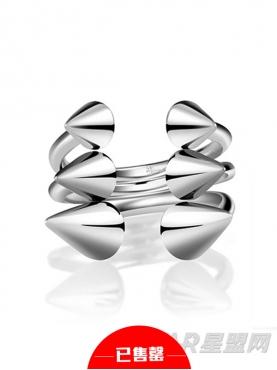 朋克复古纯银开口指环