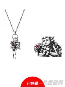 925银天使红宝石项链