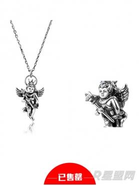 925银天使镶钻项链