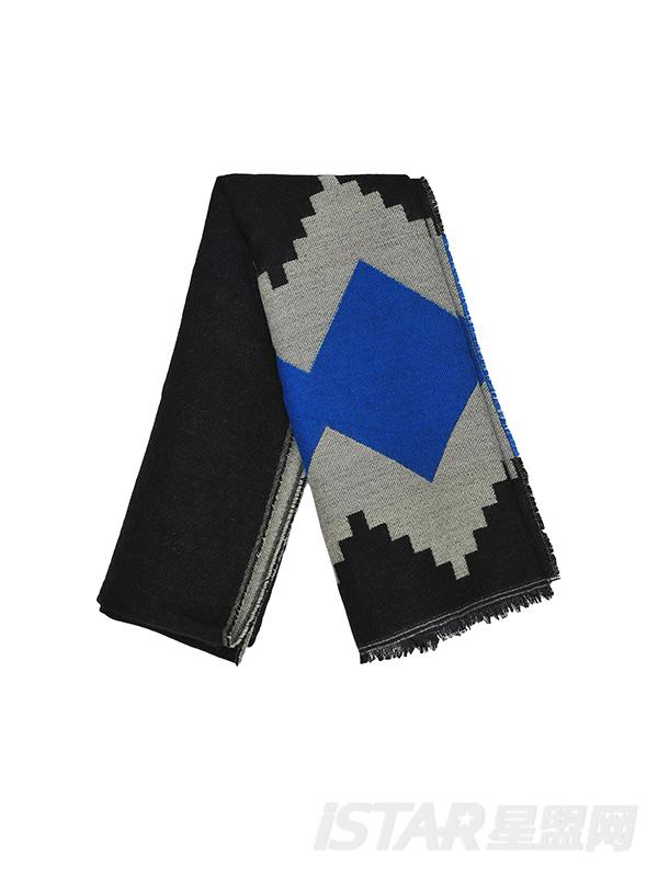 几何图形围巾披肩