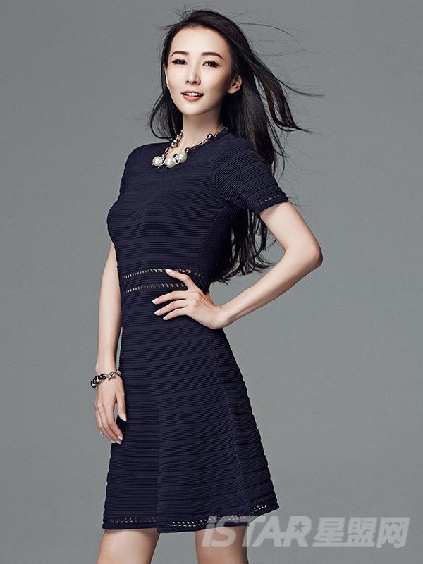 修身腰部镂空针织连衣裙