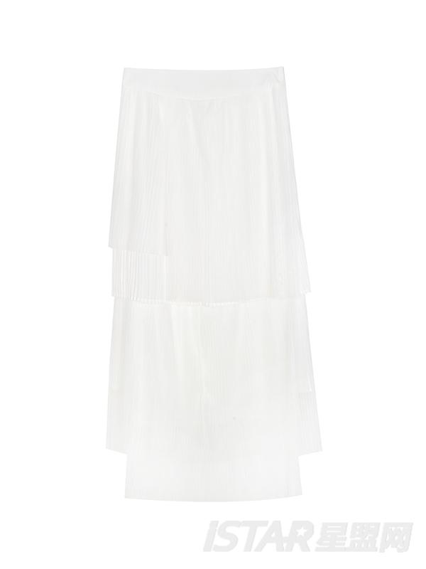 层叠雪纺裙
