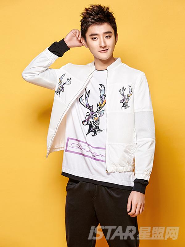 Dorayaki品牌麋鹿系列棒球服夹克