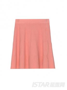 暗纹褶皱A字短裙
