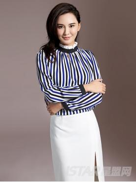 淑女花边领蓝白黑条纹衬衫