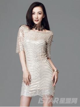 典雅复古镂空亮片连衣裙