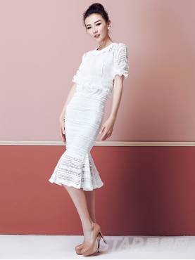韩版甜美蕾丝套装