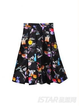 时尚潮流印花半身裙