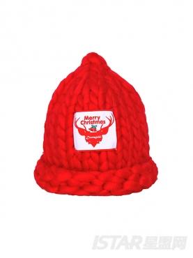 圣诞Dorayaki定制款粗针绒线尖尖帽