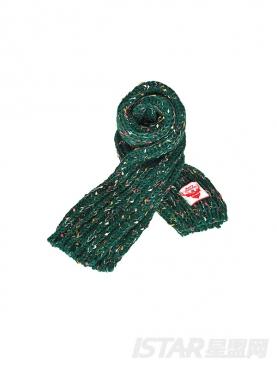 圣诞Dorayaki定制款麻花保暖围巾
