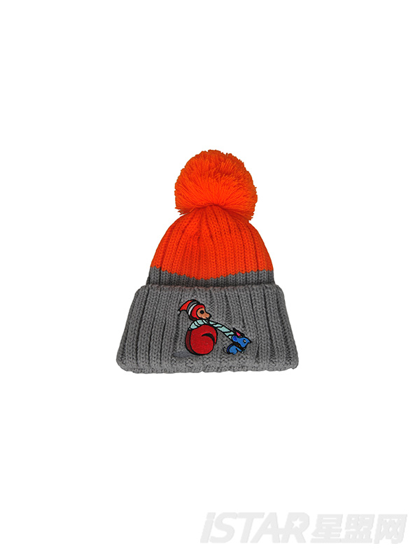 儿童变色毛线帽围巾毛球球2件套
