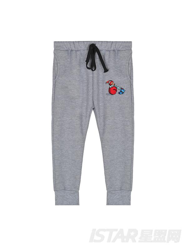 MR.HU儿童休闲加绒运动裤
