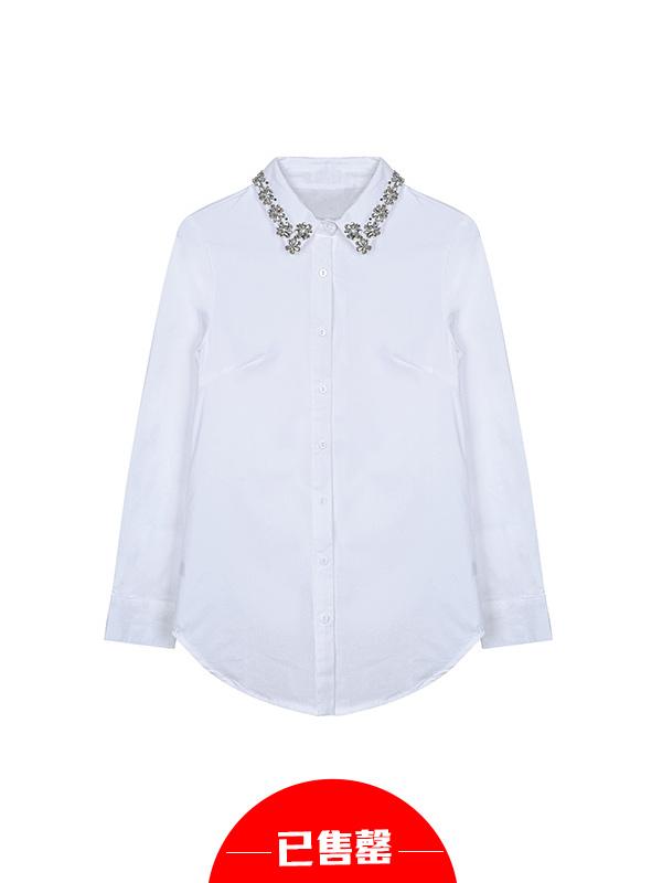 钉珠装饰衬衫