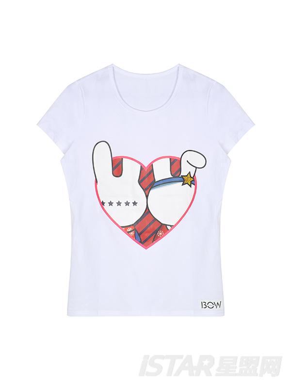 FREEBOW情侣档定制款俏皮卡通兔女T恤