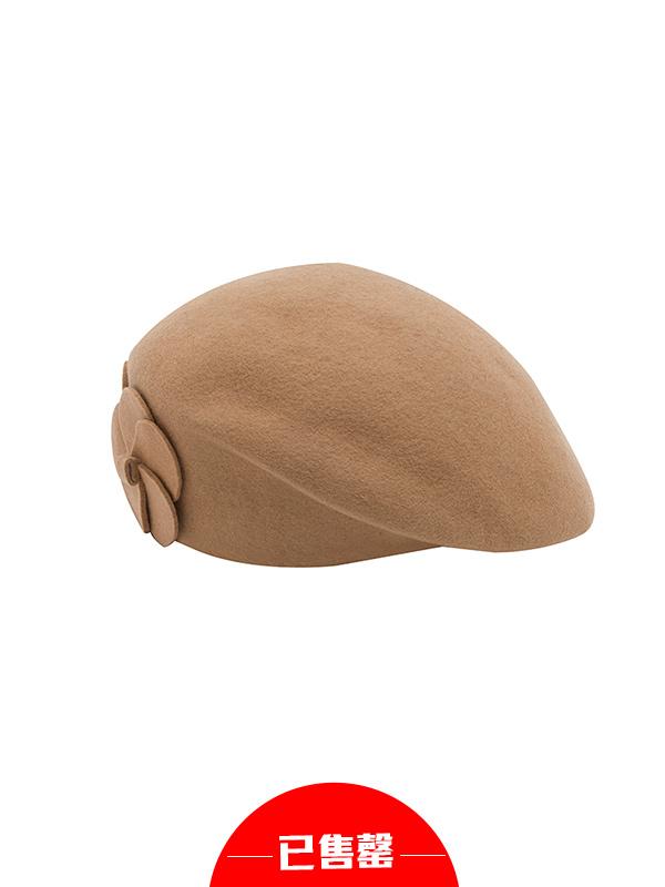 复古花朵气质贝雷帽