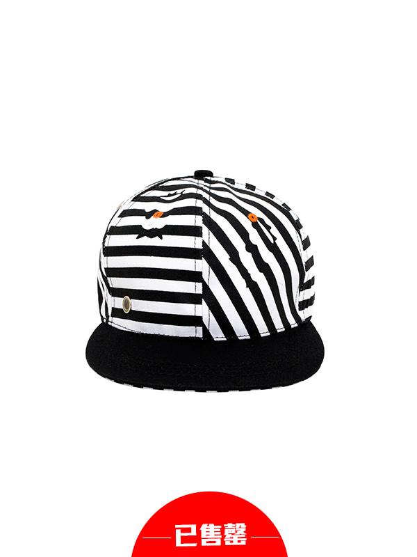 韩版潮流条纹棒球帽