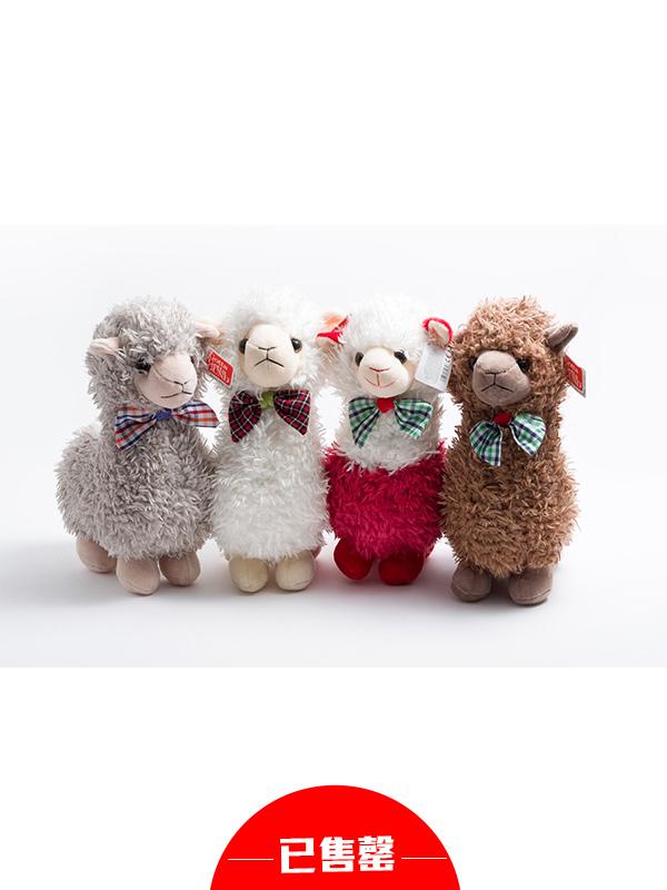 羊驼毛绒抱枕玩具