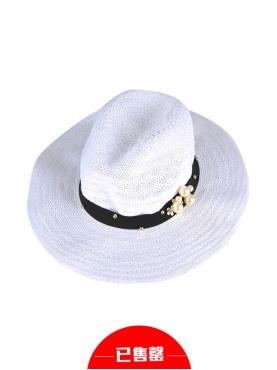 欧式复古镂空编织宽边草帽