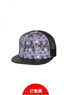 浪漫粉紫迷彩镂空拼接棒球帽